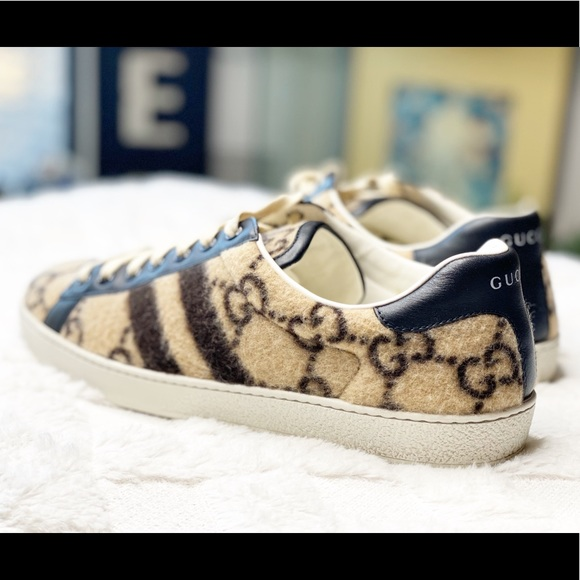 Gucci Shoes   Gucci Ace Gg Wool Lace Up